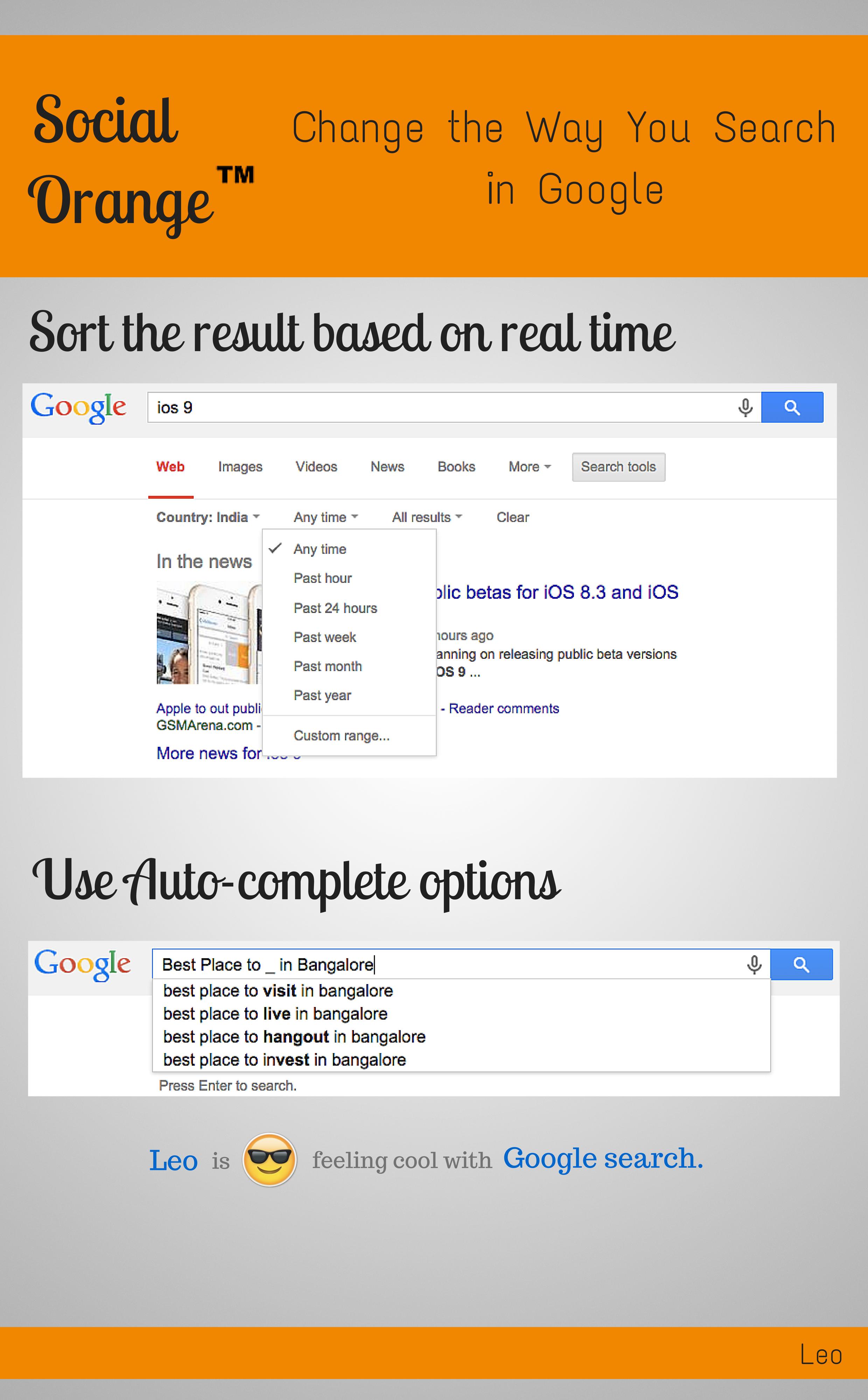 Change the way you search in Google  - SocialOrange