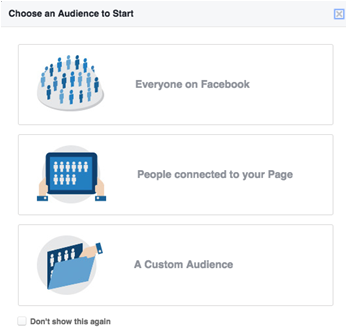 Select audiance in Facebook for campaign