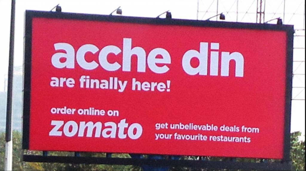 Zomato Acche Din