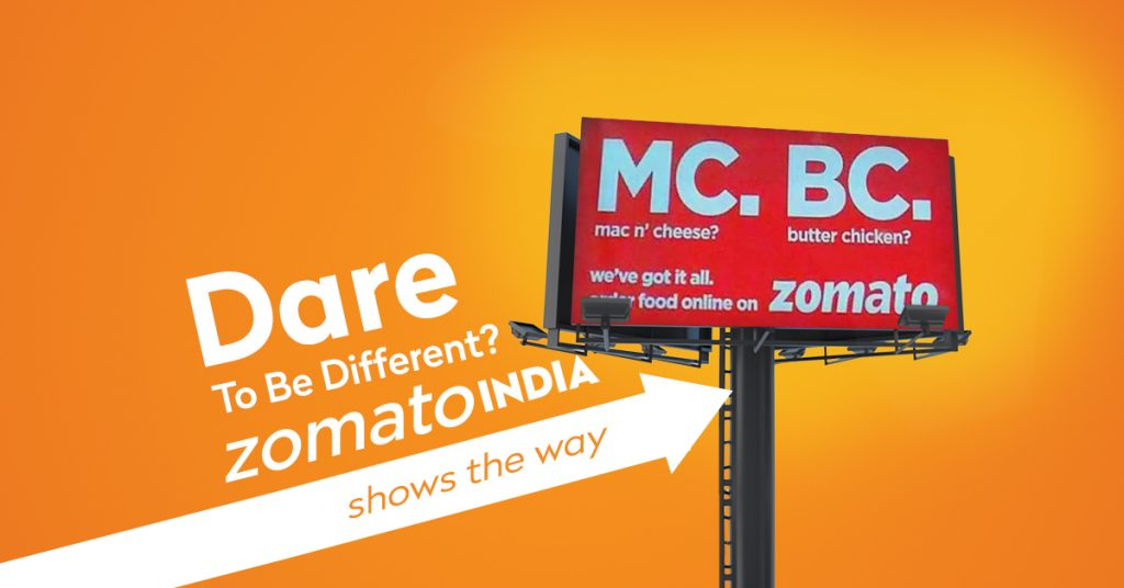 Dare to be different? Zomato India shows the way.