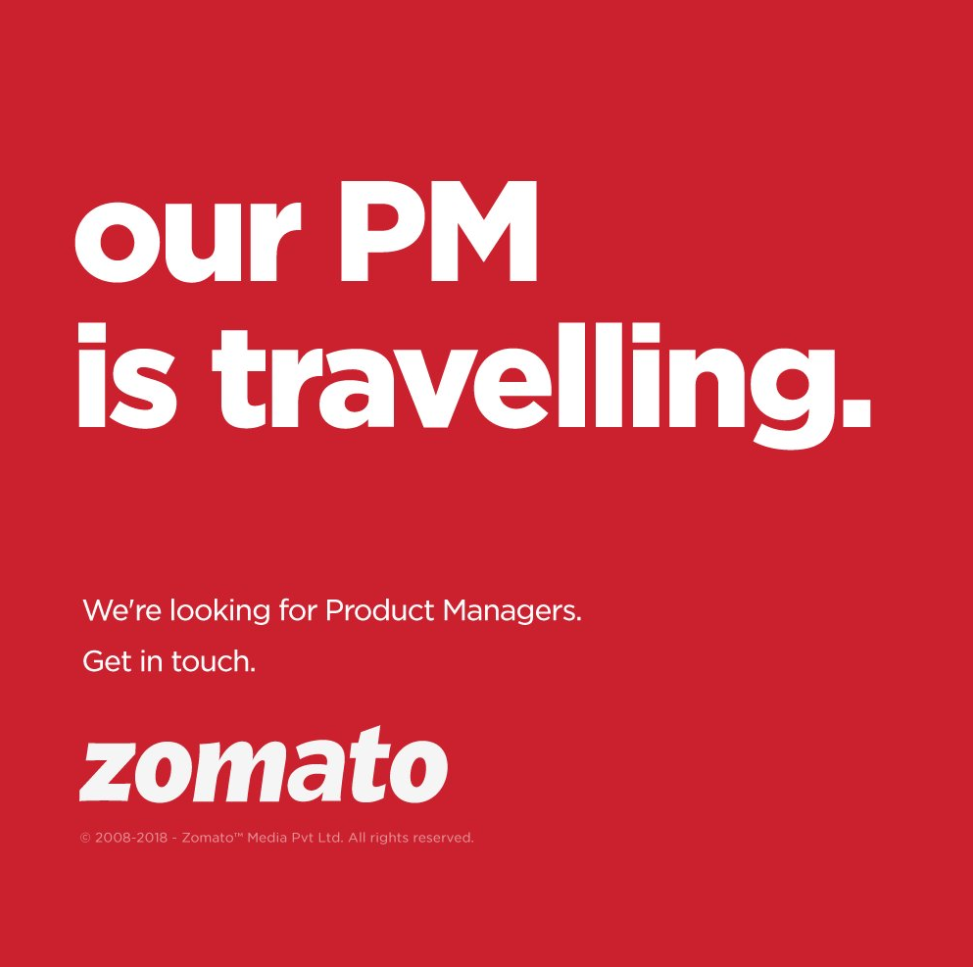 Zomato PM Travelling