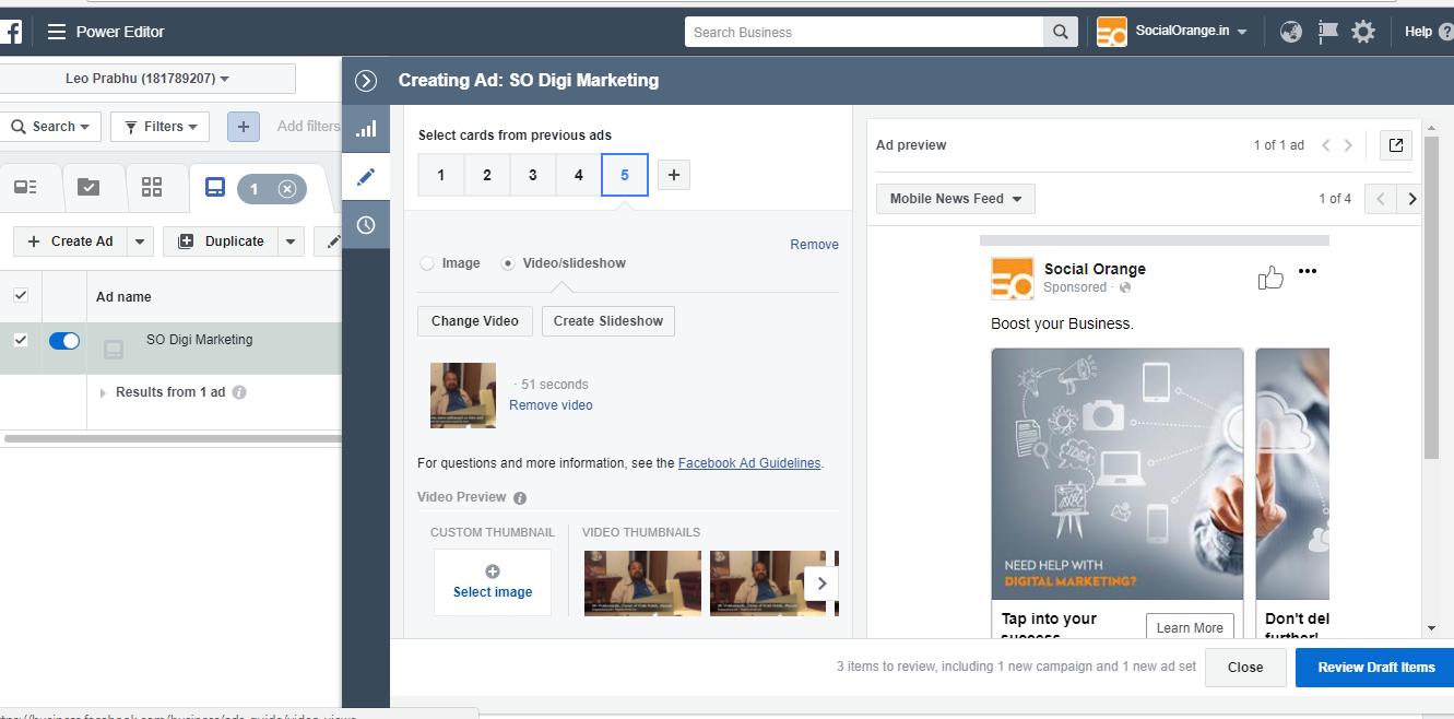 creating ad : so digi marketing