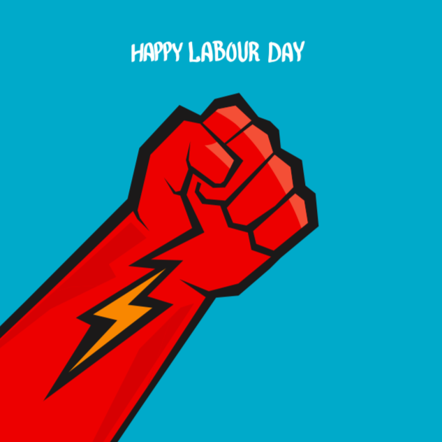 Happy Labour Day - Social Orange