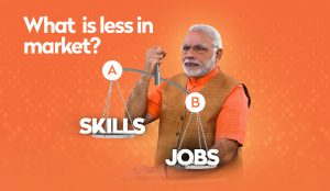 Jobs in market by Modi government
