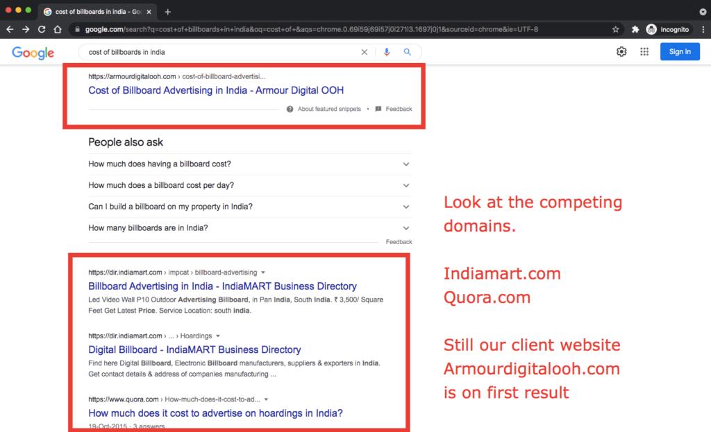 seo companies in bangalore list